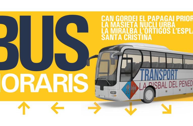 El proper dilluns 3 de maig es posa en marxa un nou servei de bus urbà que comunicarà les urbanitzacions amb El Vendrell