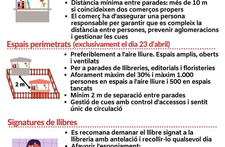 Com serà la Diada de Sant Jordi 2021? Infografia de Protecció Civil de la Generalitat de Catalunya