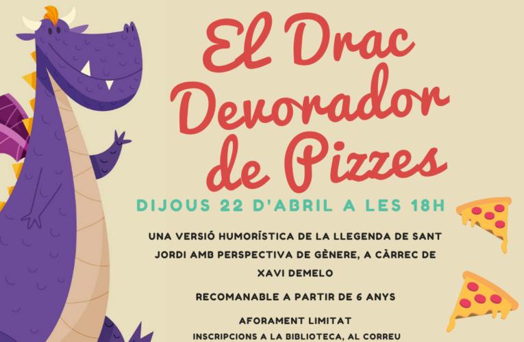 El Drac devorador de pizzes arriba el dijous 22 d'abril a la Biblioteca