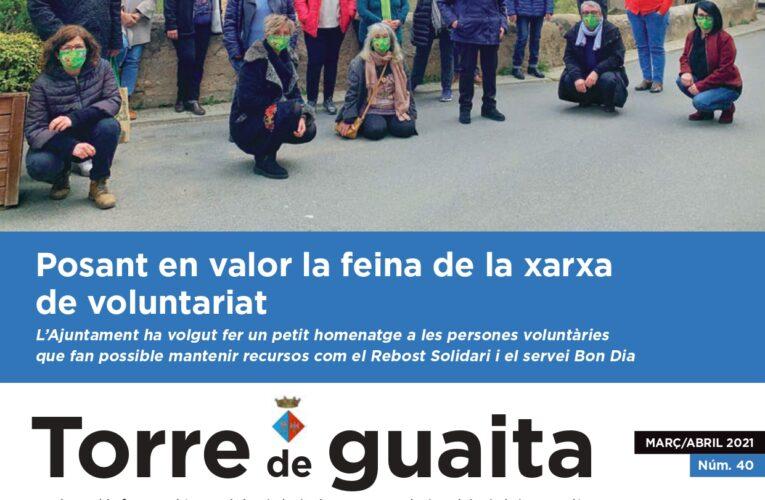 Ja està disponible l'edició de març i abril de 2021 de la Revista municipal Torre de Guaita