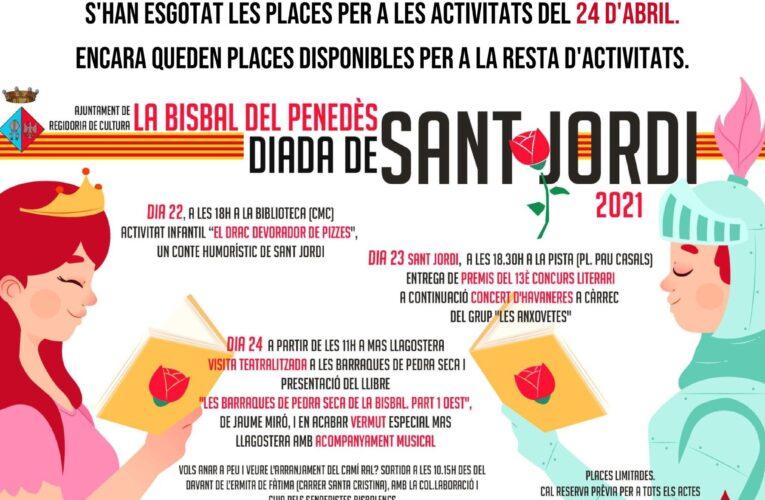 Agenda Cultural de Sant Jordi: del 16 al 24 d'abril de 2021