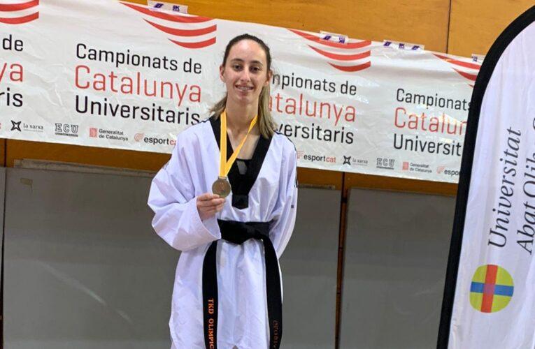 La bisbalenca Gloria Ruiz s'ha proclamat campiona de Catalunya al campionat universitari taekwondo