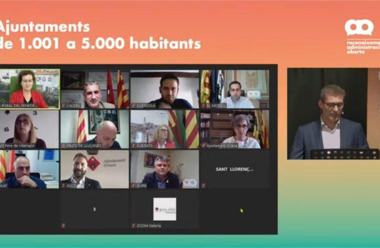 L'Ajuntament de la Bisbal del Penedès és guardonat novament amb el Reconeixement d'Administració Oberta: està entre els 10 ajuntaments d'entre 1.001 i 5.000 habitants capdavanters en l'administració digital