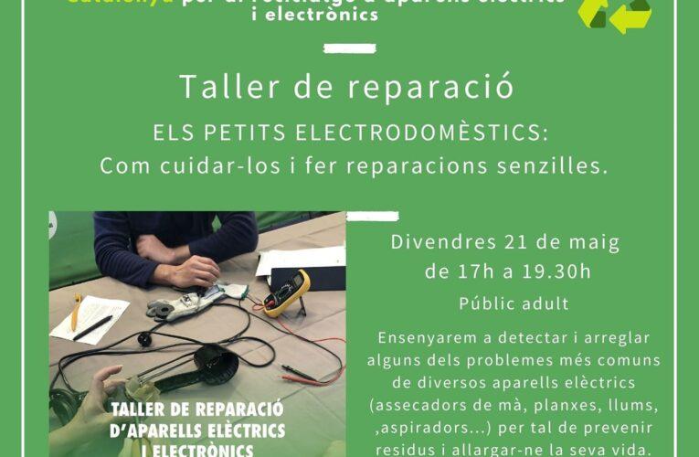 Avui divendres a les 17h tindrà lloc el taller de reparació d'electrodomèstics a la Biblioteca – Encara hi ha places disponibles! Apunteu-vos-hi!