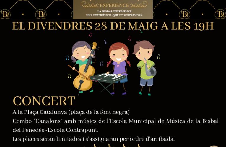 """Divendres 28 de maig a les 19h – Concert del Combo """"Canalons"""" de l'Escola Municipal de Música a la plaça Catalunya"""