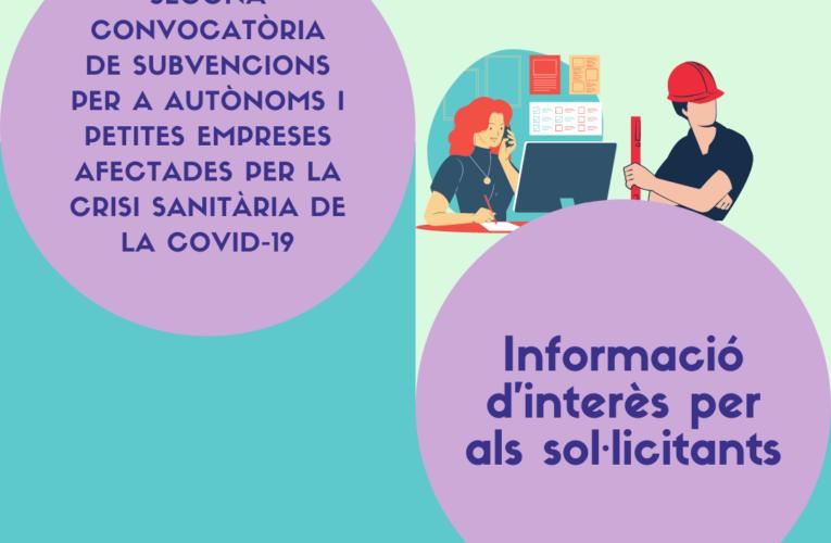 La Junta de Govern local ha aprovat l'atorgament de les segones subvencions per a autònoms i petites empreses afectades per la COVID-19