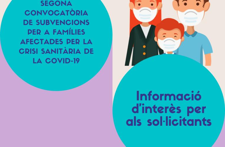 La Junta de Govern local ha aprovat l'atorgament de les segones subvencions per a famílies afectades laboralment per la COVID-19