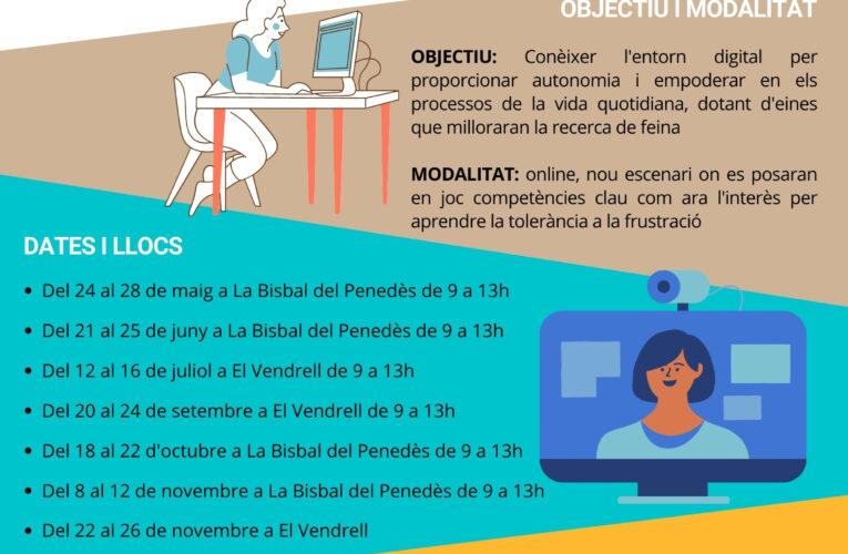 A partir del 24 de maig podeu participar en els tallers 'Treballant en digital' adreçats a persones de totes les edats i professions