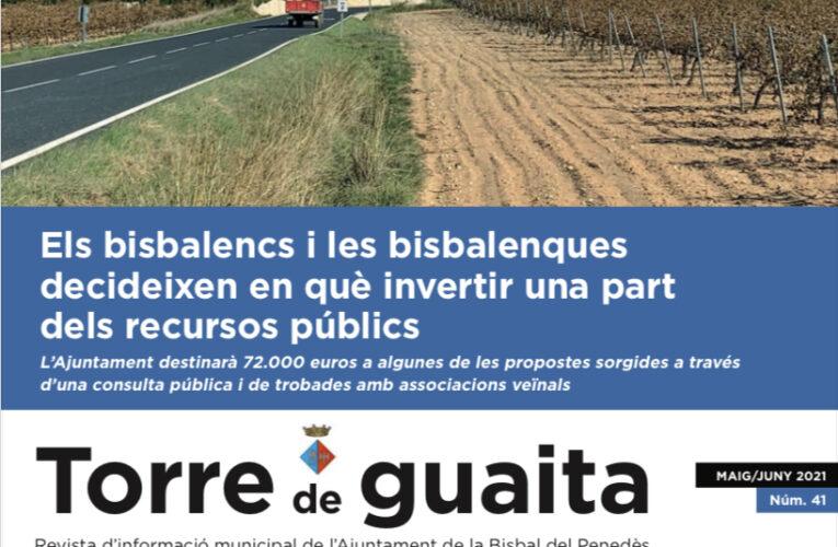 Ja està disponible l'edició de maig i juny de 2021 de la Revista municipal Torre de Guaita