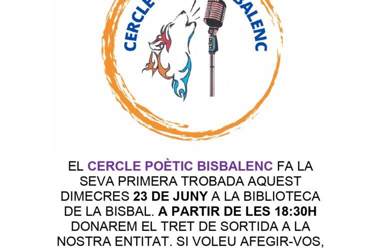 La nova entitat 'Cercle Poètic Bisbalenc' fa la seva 1a trobada aquest dimecres 23 de juny a les 18:30h a la Biblioteca