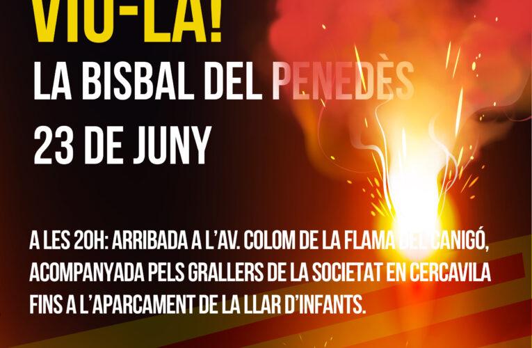 El 23 de juny a les 20h arriba la Flama del Canigó a la Bisbal del Penedès