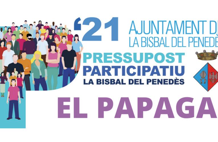 Els veïns del Papagai podreu votar les propostes del Pressupost Participatiu aquest dissabte al davant del local o durant la setmana vinent a l'Ajuntament