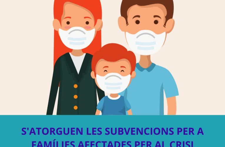 La Junta de govern ha atorgat un total de 3.600€ per a famílies afectades per la COVID-19