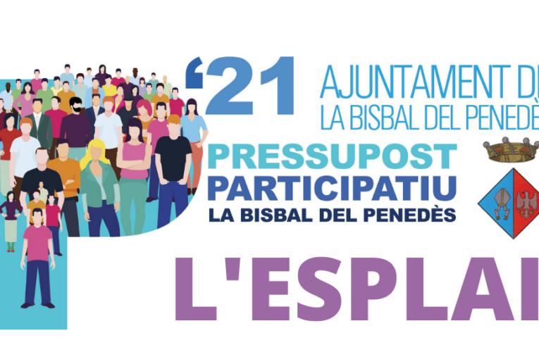 Els veïns de l'Esplai podreu votar el Pressupost Participatiu el diumenge 18 de juliol al davant del bar