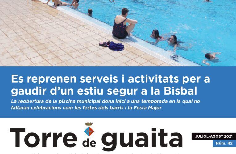 Ja està disponible l'edició de juliol i agost de 2021 de la Revista municipal Torre de Guaita