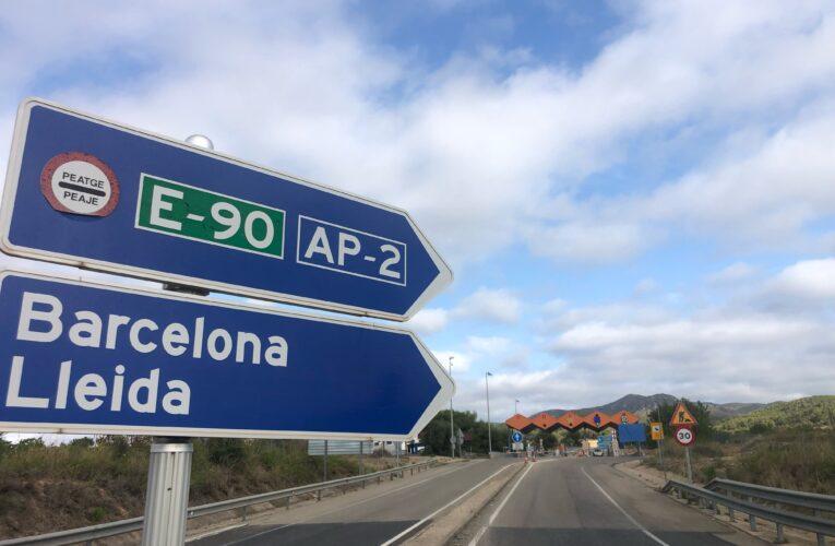 L'autopista AP2 deixarà de ser de pagament a partir de l'1 de setembre