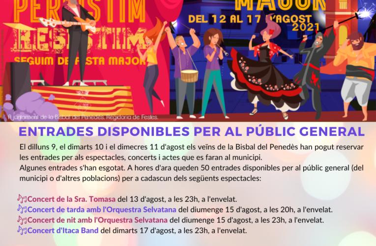 Reserva d'entrades disponibles per a la Festa Major a través del web