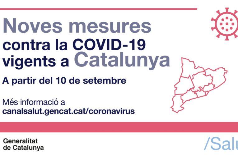 Aquest divendres 10 de setembre entren en vigor noves mesures contra la COVID-19
