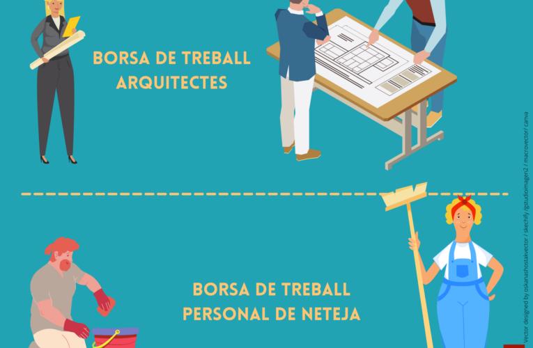 S'ha publicat la relació provisional d'admesos i exclosos en les borses de treball d'arquitecte i de personal de neteja