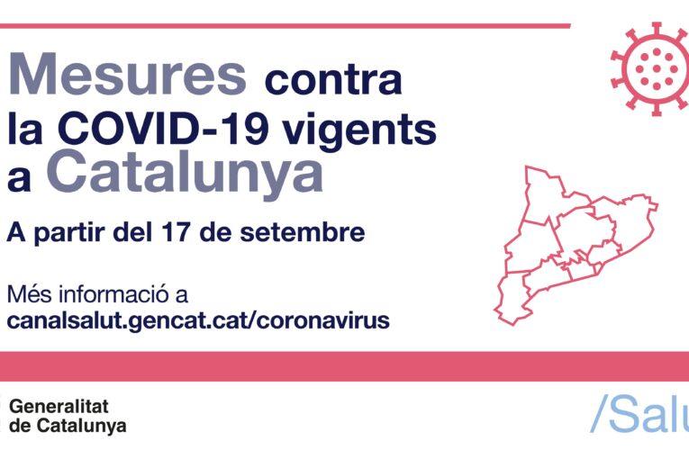Noves mesures contra la COVID-19 a Catalunya