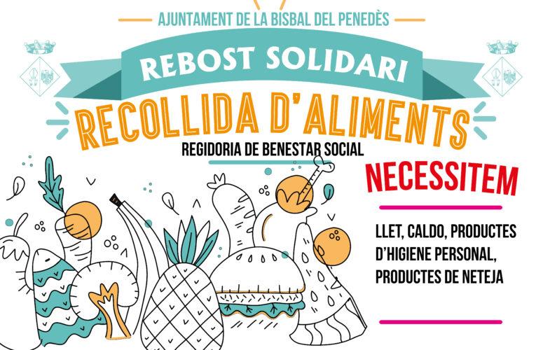 Aquest diumenge 3 d'octubre podreu col·laborar amb la parada del Rebost Solidari que hi haurà a la Fira