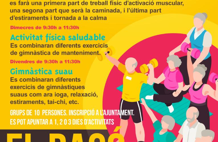 S'obren les inscripcions per al programa d'activitat física de la gent gran