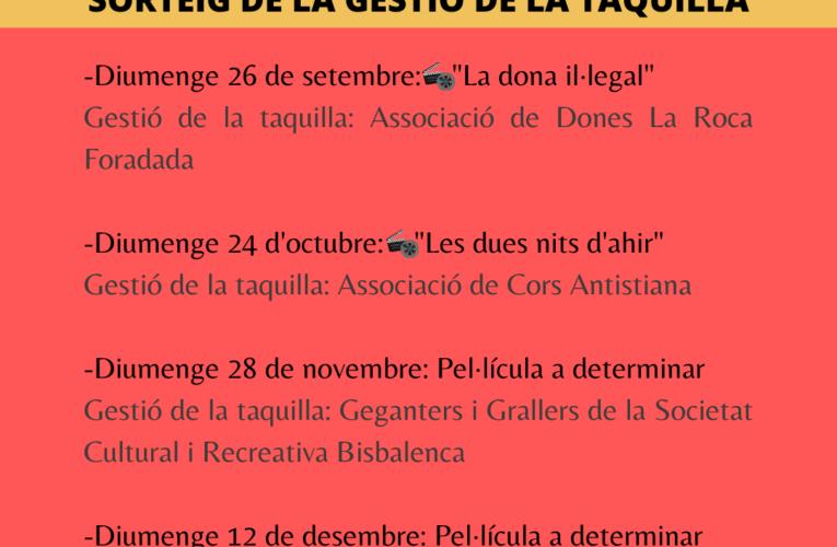 Avui dilluns s'ha fet el sorteig per conèixer les entitats que gestionaran la taquilla del Cicle Gaudí fins al desembre