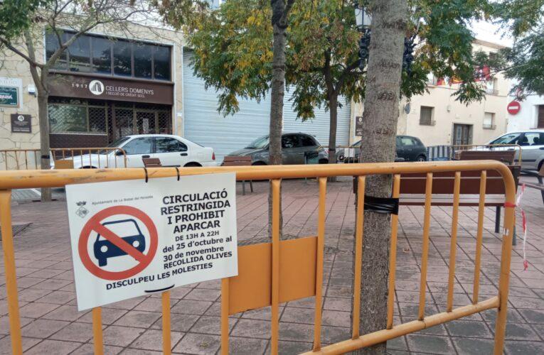 Afectacions de trànsit i estacionament amb motiu de la collita d'olives