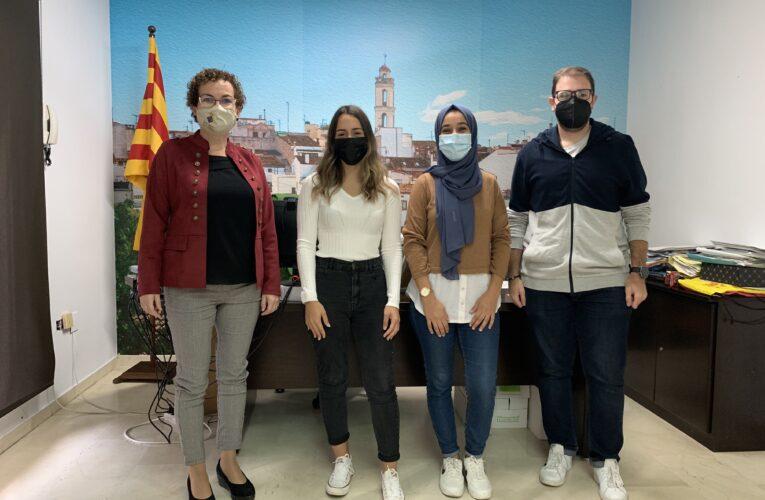 Tres joves s'incorporen a treballar a l'Ajuntament de la Bisbal del Penedès amb un contracte en pràctiques en el marc del programa de Garantia Juvenil