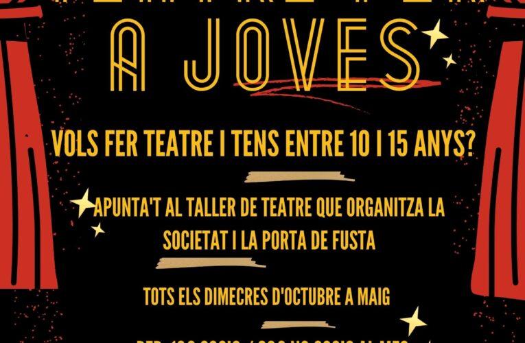 Tens entre 10 i 15 anys? Apunta't al taller de teatre per a joves que ha organitzat la Societat Cultural i Recreativa Bisbalenca