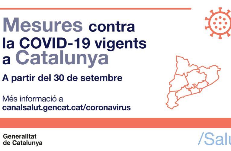 Mesures per la COVID-19 del 30 de setembre al 7 d'octubre de 2021